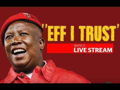EFF CiC Julius Malema briefs the media