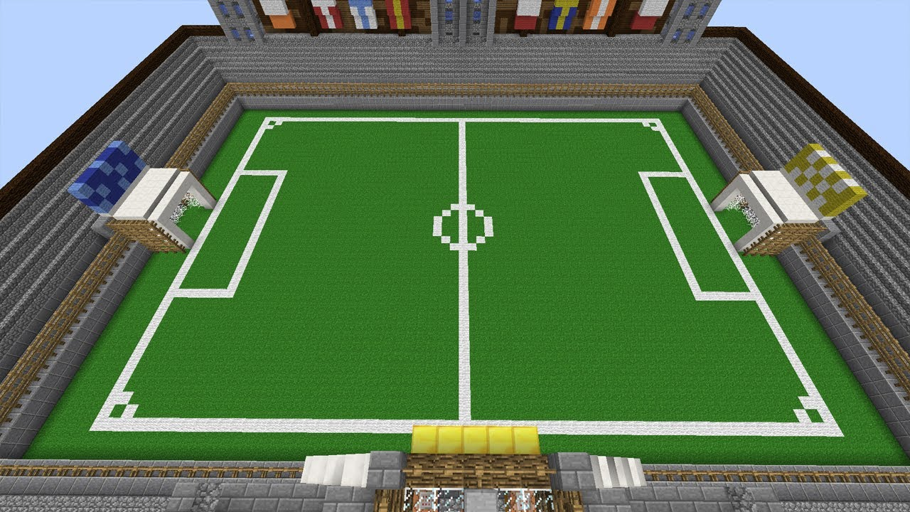 Fussball In Minecraft WM Map Minecraft Map YouTube - Minecraft fubball spielen