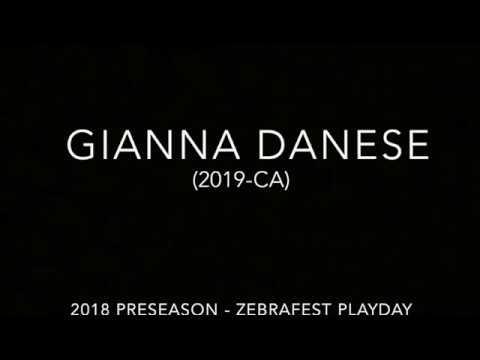 Gianna Danese 2019 Preseason Zebrafest Highlights