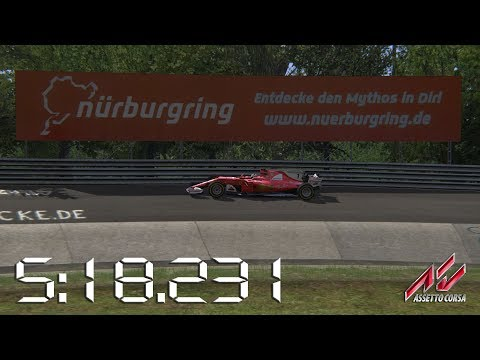 Assetto Corsa - 2017 Ferrari SF70H - Nürburgring Nordschleife Lap Times - 5:18.231