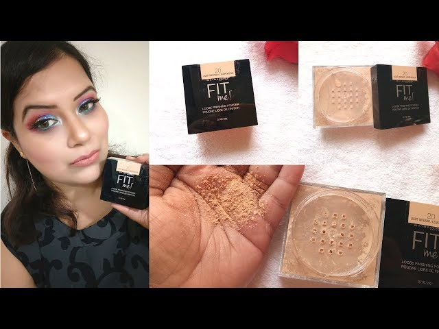 ***NEW MAYBELLINE FIT ME LOODSE FINISHING POWDER REVIEW II DEMO
