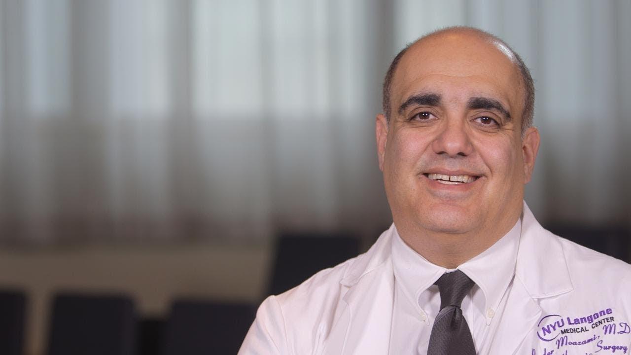 Meet Transplant Surgeon Dr  Nader Moazami - YouTube