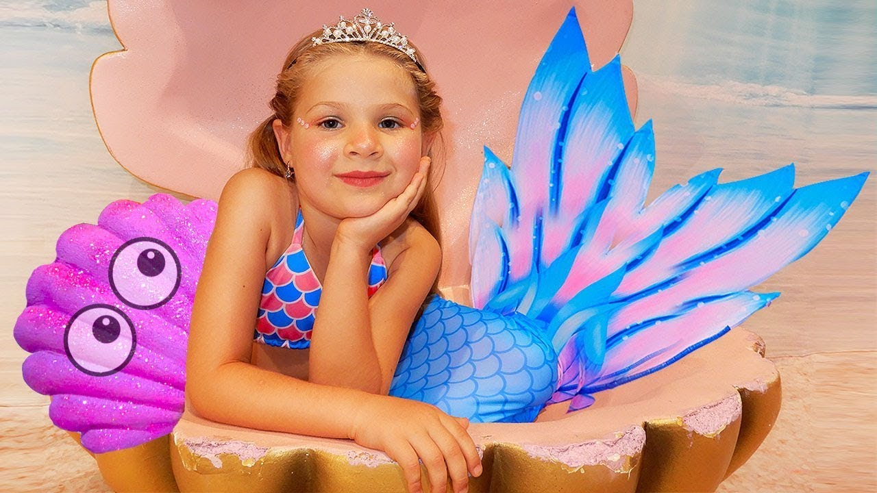 ديانا تحولت إلى أميرة حورية بحر صغيرة