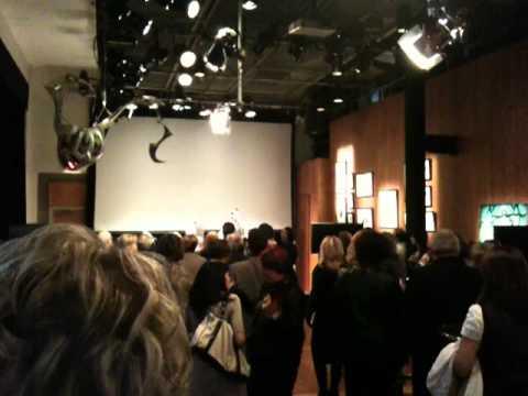 Étienne Drapeau au lancement du livre de Christine Michaud