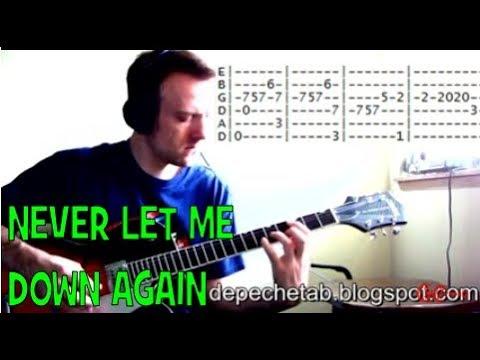 Depeche Mode Never let me down again tab guitar lessons online