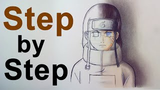 [TUTORIAL] How To Draw Anime Character - Neji Hyuga