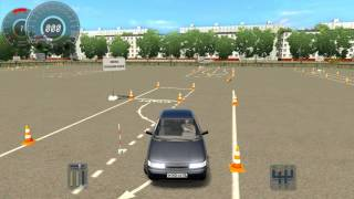 Змейка передним ходом (автодром) 3D Инструктор