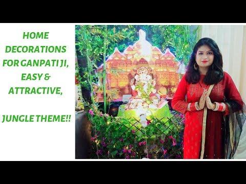 Ganpati Decoration Ideas at Home - Ganesh Pooja Decoration | Easy Decor for Ganesh Chaturthi |