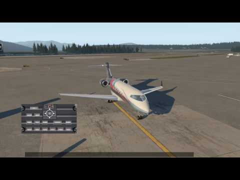 X Plane 11 Bombardier Challenger 300 start up