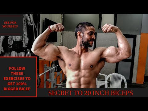 TOP 5 BICEPS EXERCISES FOR SIZE GAIN |BIG BICEPS| HOW TO GET BIGGER BICEPS  | Rahul Fitness Official