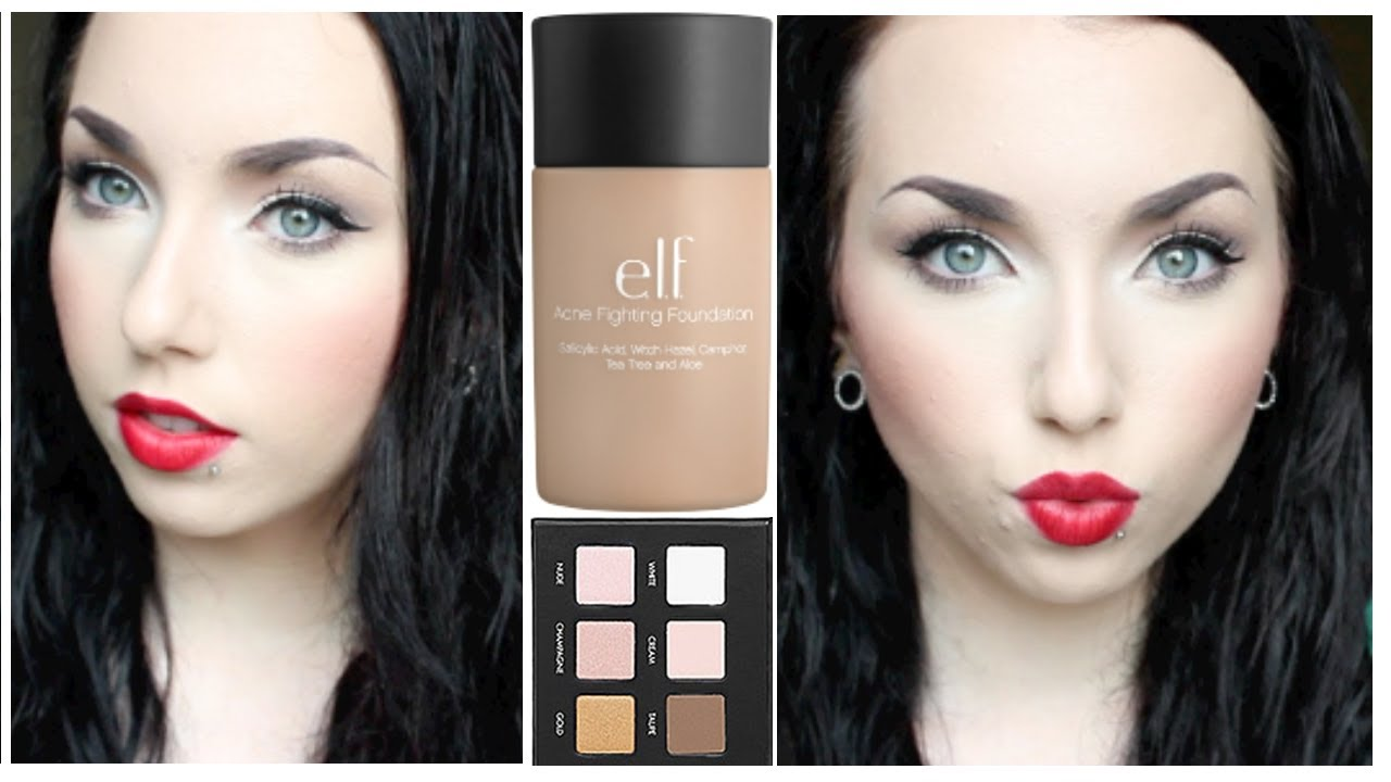 elf acne fighting foundation swatches