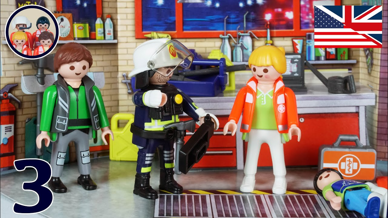 Fire in the workshop #3 The AIR RESCUE TEAM of the ...