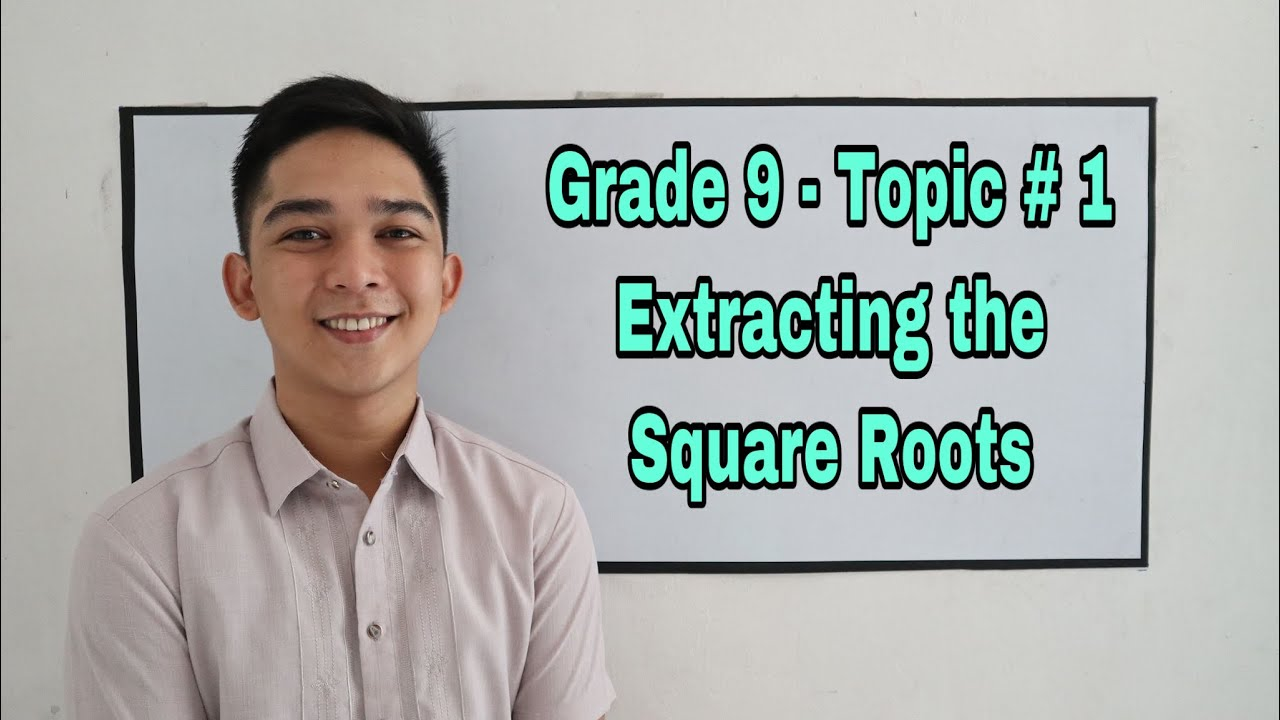 Grade 9 Topic 1 Solving Quadratic Equation By Extracting The Square Root Youtube 15 is square root of 225. grade 9 topic 1 solving quadratic equation by extracting the square root