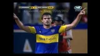 Primer gol de boca darío cvitanich vs. fluminense 11/04/2012