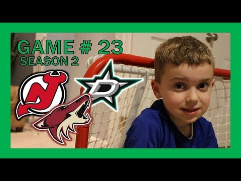 KNEE HOCKEY GAME # 23 - STARS / DEVILS / COYOTES - SEASON 2 - QUINNBOYSTV