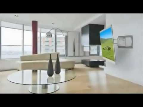 tv wandhalterungen peerless slimline youtube. Black Bedroom Furniture Sets. Home Design Ideas