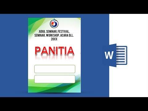 Tutorial Cara Membuat Id Card Name Tag Di Ms Word 2013 Youtube
