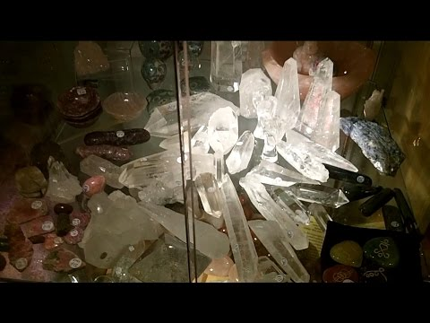 Crystal shopping at Dervish Holistic New Age shop, Dublin Ireland