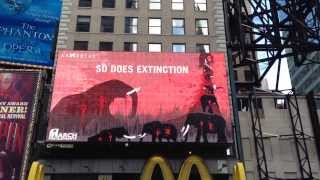 Elephant In Times Square Billboard (LIVE)