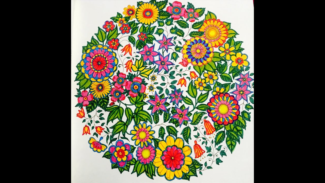 Secret Garden Colouring Book - 7 Colours Only - YouTube