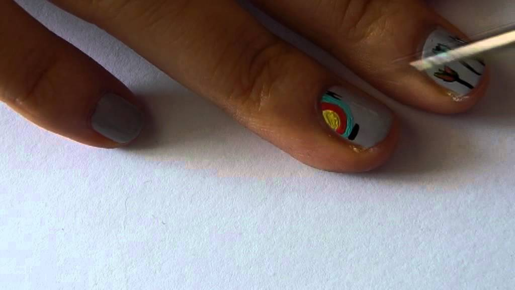 Archery nail art tutorial youtube archery nail art tutorial prinsesfo Images