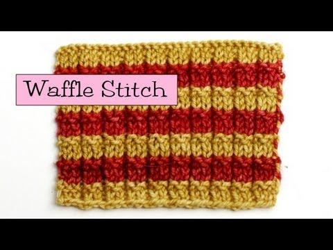 Fancy Stitch Combos Waffle Stitch Youtube