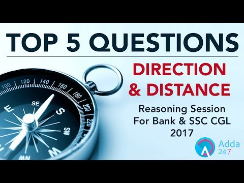 Direction and Distance For SSC CGL 2017