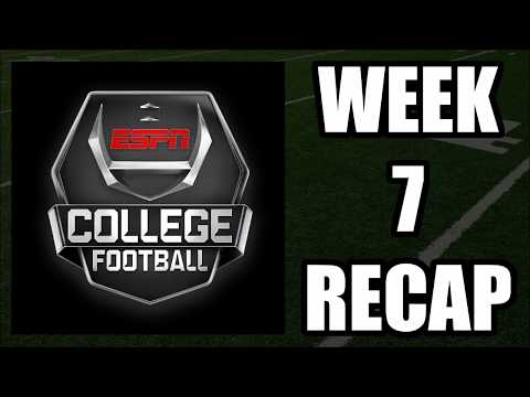 College Football Week 7 Recap - Upsets All Over the Place