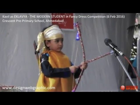Kavil Performing on Fancy Dress Competition at Crescent Pre Primary School Eklavya the Modern Studen