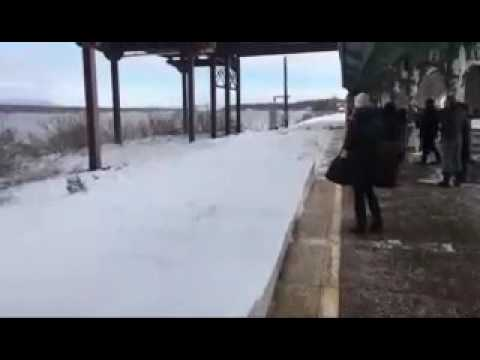 Thumbnail: Amtrak Snow Collision