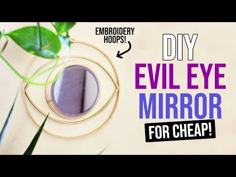 DIY Trendy Evil Eye Mirror (for cheap!) - HGTV Handmade