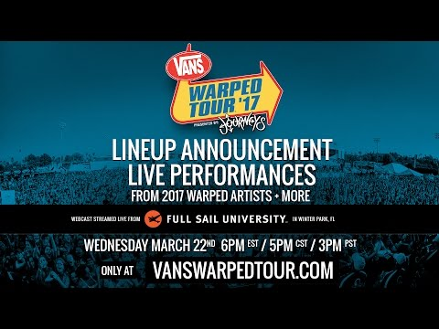 2017 Vans Warped Tour :: Live Artist Announce Webcast