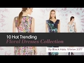 10 Hot Trending Floral Dresses Collection By Black Halo, Winter 2017