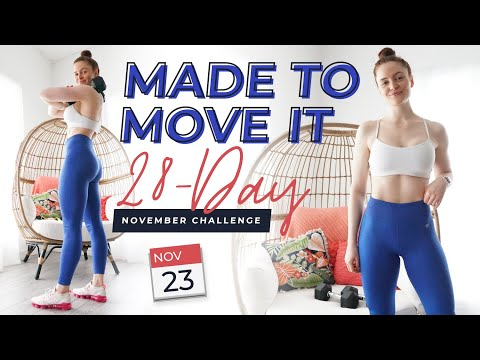FREE 28-Day Workout Challenge + Guide | Made To Move It