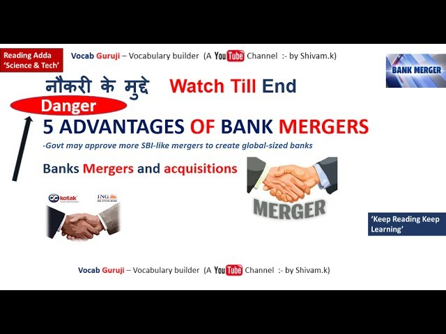 bank mergers and their effects Competitive effects the agencies look to market concentration as a measure of the number of competitors and their relative size mergers occurring in industries.