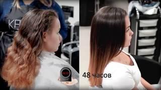 видео Бразильское выпрямление волос кератином (фото результата)