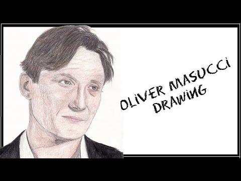 Oliver Masucci | colored pencil portrait