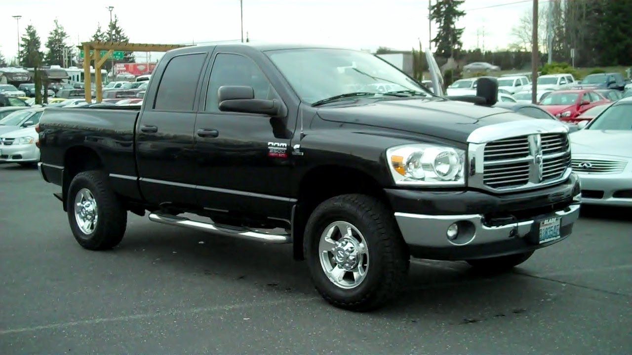 2008 Dodge Ram 2500 Big Horn 4wd Cummins 6 7l I6