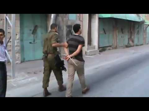 Israeli Soldiers Break Palestinian Nose-