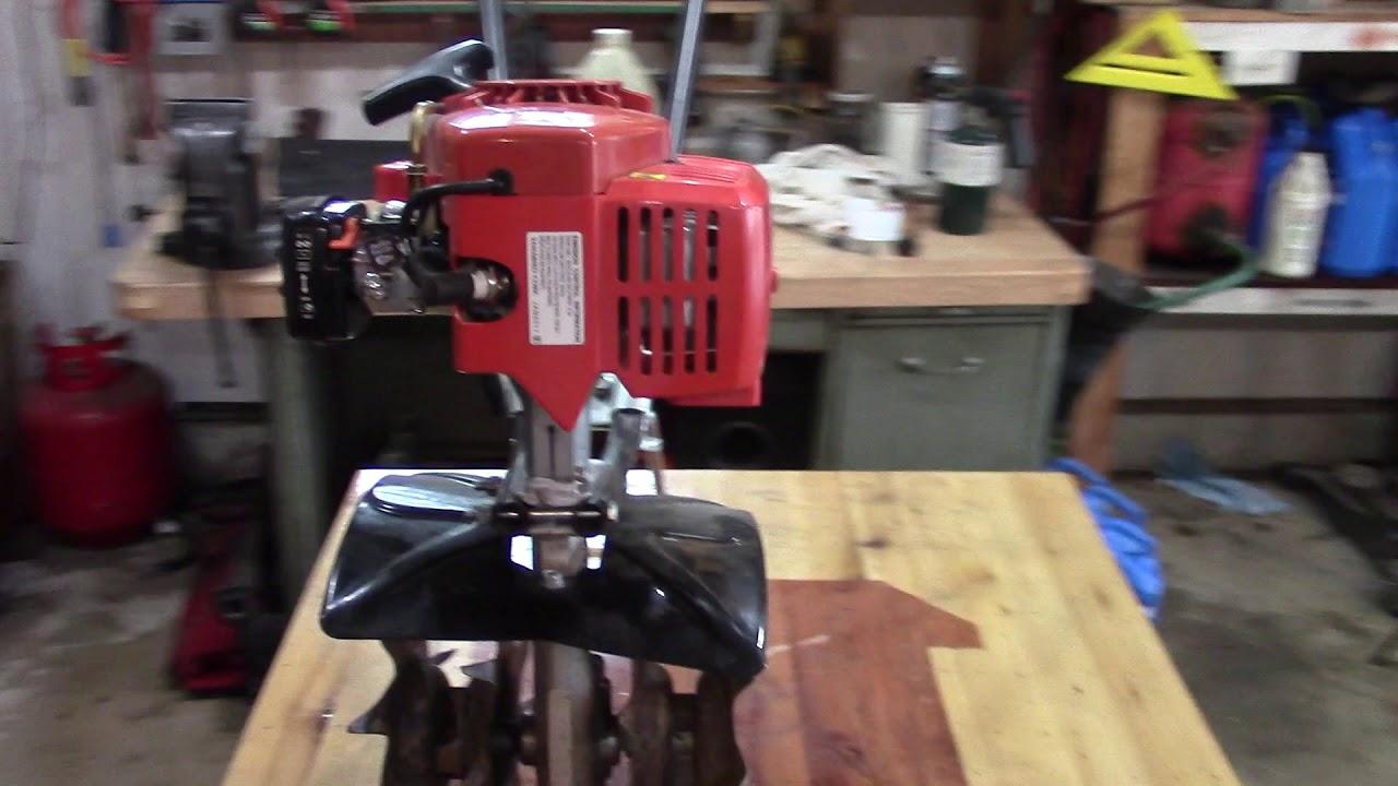 echo mantis tiller not starting repaired