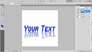How to create a reflective text in Photoshop