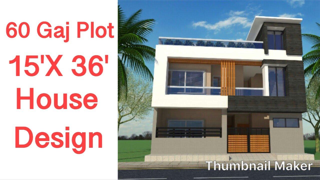 15 X 30 House Plan , 1 BHK , 50 Gaj - YouTube