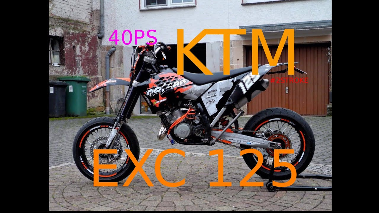 my first ride with a ktm exc 125 supermoto youtube. Black Bedroom Furniture Sets. Home Design Ideas