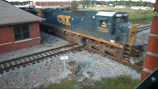 CSX & Amtrak Battle It Out Near Collision At The Diamond