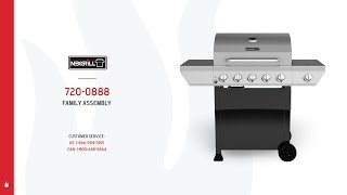 Nexgrill 5-Burner Gas Grill w/ Stainless Steel Side Burner (720-0888A & 720-0925)