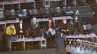 190106 BTS Reaction to WannaOne - Always (워너원 발라드 무대보는 방탄소년단) 4K 직캠 by 비몽