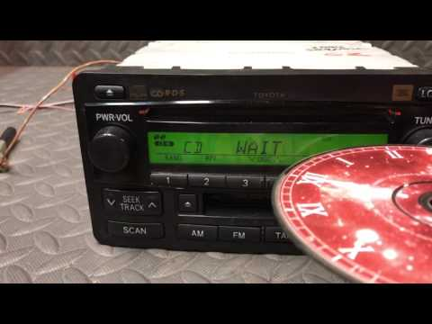Toyota CD player bench test.