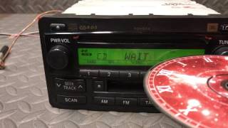 Toyota CD player bench test.