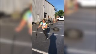 Woman with Cerebral Palsy Defies Odds By Completing CrossFit Tire Drag