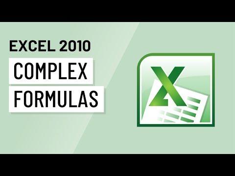 Excel 2010: Creating Complex Formulas